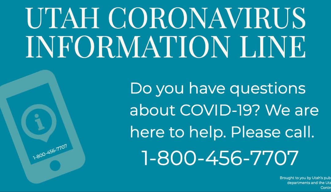 Utah Coronavirus Information Line
