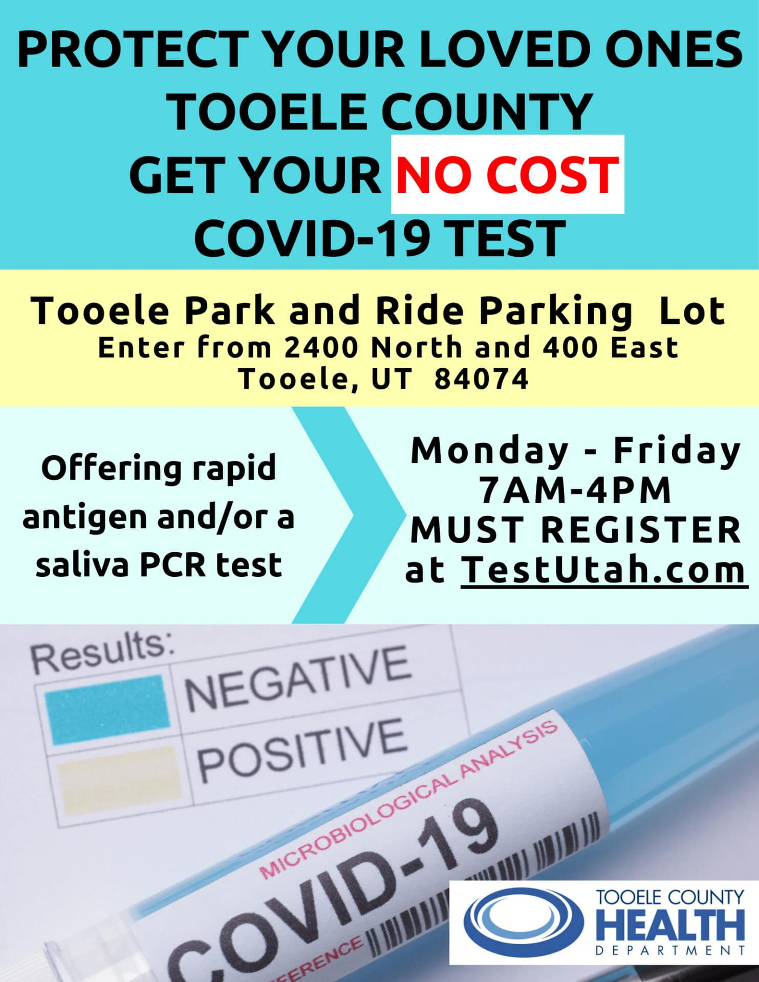 Have A Symptom Testing Locations And Information Tooele County Health Department